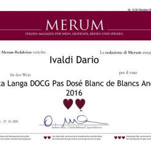 Merum Alta Langa Docg Pas Dosè Blanc de Blancs 2016
