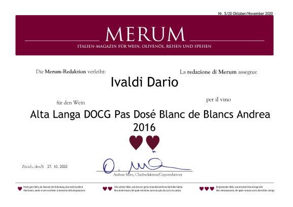 Merum | Alta Langa Docg Pas Dosè Blanc de Blancs 2016