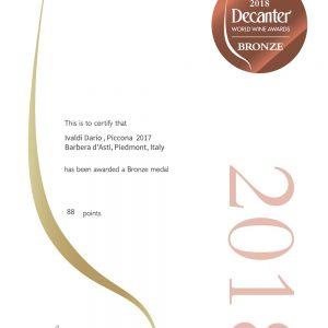 Piccona 2017 Barbera d'Asti, Piedmont, Italy 88