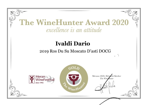 The WineHunter Award GOLD