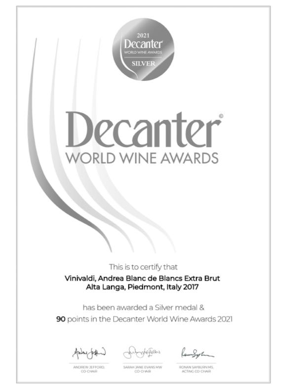 Medaglia argento Decanter World Wine Awards