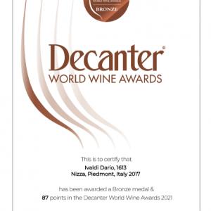 Medaglia bronzo Decanter World Wine Awards 2021